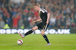 Kevin De Bruyne of Belgium (Wolfsburg) in action - Photo mandatory by-line: Rogan Thomson/JMP - 07966 386802 - 12/06/2015 - SPORT - FOOTBALL - Cardiff, Wales - Cardiff City Stadium - Wales v Belgium - EURO 2016 Qualifier.