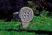 France, Languedoc and Roussillon.  Le Couvertoirade.  Fortified village/gravestones.