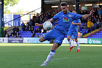 Matthew Warburton during the FA Cup fixture between Stockport County and Corby Town at Edgeley Park on 6 October 2018 / James Gill Media