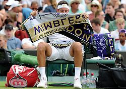 July 5, 2018 - Angleterre - Wimbledon - Juan Martin Del Potro Argentine (Credit Image: © Panoramic via ZUMA Press)