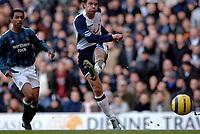 Photo: Daniel Hambury.<br /> Tottenham Hotspur v Newcastle United. The Barclays Premiership. 31/12/2005.<br /> Tottenham's Teemu Tainio scores the first goal.