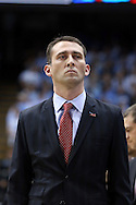 01 December 2015: Maryland assistant coach Dustin Clark. The University of North Carolina Tar Heels hosted the University of Maryland Terrapins at the Dean E. Smith Center in Chapel Hill, North Carolina in a 2015-16 NCAA Division I Men's Basketball game. UNC won the game 89-81.