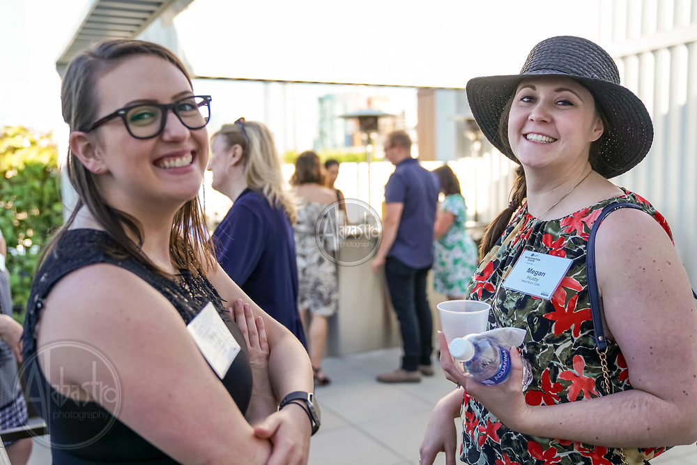 MPIWSC Strictly Social May 2018 at Hyatt House Seattle. Jene Iceberg and Megan Husby. Photo by Alabastro Photography.