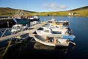 Fishing boats harbour Voe, Shetland Islands, Scotland