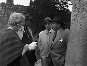 Robert Wagner, Mayor of New York, visits Glendalough, County Wicklow, 27/04/1958.