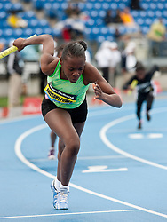adidas Grand Prix track & field: Awesome Power Track Club, 4x400 youth girls relay lead-off runner