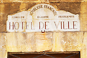 town hall chateauneuf du pape rhone france