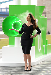 EDITORIAL USE ONLY Kelly Brook launches the world's first Pringles flavour cloud, which generates bursts of air that taste like Brits favourite flavours including sour cream and onion, Potters Fields Park, London.