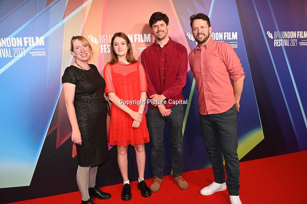 Helen Argo, Bronte Carmichael, Mikey Please,Dan Ojar attended Robin Robin European Premiere at BFI Southbank, London, UK. 9 Ocyober 2021.
