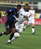 Fotball, Ipswich Titus Bramble and Inter Milan Okan.<br /><br />Foto: Digitalsport