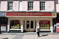 As England eases out of Coronavirus lockdown no 3, non-essential shops reopen on 12 April 2021. Edinburgh Woollen Mill did not survive the pandemic, Norwich UK
