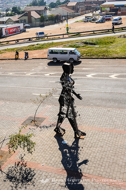 Sculpture. Soweto is a suburb of Johannesburg, South Africa, short for South Western Township. A symbol of the uprising against apartheid.