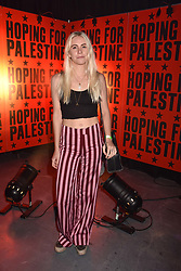 """India Rose James at """"Hoping For Palestine"""" Benefit Concert For Palestinian Refugee Children held at The Roundhouse, Chalk Farm Road, England. 04 June 2018."""