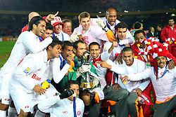 A equipe do Internacional, do Brasil comemora o titulo do Mundial Interclubes da FIFA sobre o Barcelona, da Espanha no estadio Internacional de Yokohama. FOTO: Jefferson Bernardes/Preview.com