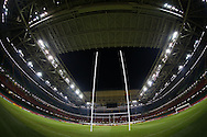 a general view inside the stadium after the game. Rugby World Cup 2015 pool c match, New Zealand v Georgia at the Millennium Stadium in Cardiff, South Wales  on Friday 2nd October 2015.<br /> pic by  Andrew Orchard, Andrew Orchard sports photography.