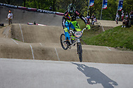 #566 (OQUENDO ZABALA Carlos Mario) COL at the 2016 UCI BMX Supercross World Cup in Papendal, The Netherlands.