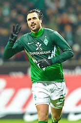 28.11.2010, Weser Stadion, Bremen, GER, 1.FBL, Werder Bremen vs FC St. Pauli im Bild 3:0 Hugo Almeida ( Werder #23 ) Jubel    EXPA Pictures © 2010, PhotoCredit: EXPA/ nph/  Kokenge       ****** out ouf GER ******
