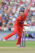 Arron Lilley during the NatWest T20 Blast Semi Final match between Hampshire County Cricket Club and Lancashire County Cricket Club at Edgbaston, Birmingham, United Kingdom on 29 August 2015. Photo by David Vokes.