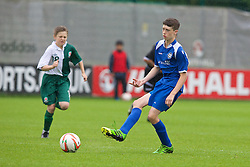 NEWPORT, WALES - Wednesday, May 28, 2014: North WPL Academy Boys' Owen Manley during the Welsh Football Trust Cymru Cup 2014 at Dragon Park. (Pic by David Rawcliffe/Propaganda)