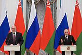 September 10, 2021 - RUS: Vladimir Putin and Alexander Lukashenko Hold Joint News Conference