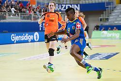 10-12-2014 CRO: EHF EK Nederland - Zweden, Varazdin<br /> Louise Sand #9 of Sweden  during handball match between Netherlands and Sweden at 11th EHF European Women's Handball Championship Hungary-Croatia 2014<br /> *** USE NETHERLANDS ONLY ***