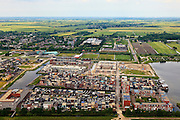 Nederland, Utrecht, Woerden, 03-05-2011; Nieuwbouwwijk Waterrijk in de Polder Snel en Polanen; bouwen in het Groene Hart; zandwinplas voorgrond.New housing district in polder in the Green Heart of teh Netherlands. Work in progress..luchtfoto (toeslag), aerial photo (additional fee required).copyright foto/photo Siebe Swart