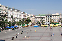 The Main Market Square in Krakow Poland