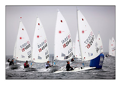 Claire Dennis, USA 182841 and Tiffany Brien, IRL 192697.Opening races in breezy conditions for the Laser Radial World Championships, taking place at Largs, Scotland GBR. ...118 Women from 35 different nations compete in the Olympic Women's Laser Radial fleet and 104 Men from 30 different nations. .All three 2008 Women's Laser Radial Olympic Medallists are competing. .The Laser Radial World Championships take place every year. This is the first time they have been held in Scotland and are part of the initiaitve to bring key world class events to Britain in the lead up to the 2012 Olympic Games. .The Laser is the world's most popular singlehanded sailing dinghy and is sailed and raced worldwide. ..Further media information from .laserworlds@gmail.com.event press officer mobile +44 7775 671973  and +44 1475 675129 .