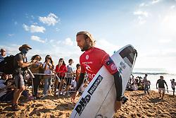 October 20, 2018 - Peniche, Portugal - Australian surfer Owen Wright after finishing the heat. (Credit Image: © Henrique Casinhas/NurPhoto via ZUMA Press)