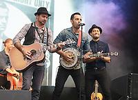 West End Live 2016; Trafalgar Square; London UK; 18-19 June 2016; Photo by Brett D. Cove; Ramin Karimloo; Stephen Rahman-Hughes