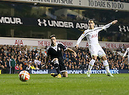 Tottenham's Roberto Soldado fires an early shot wide<br /> <br /> Europa League Group C- Tottenham vs Partizan Belgrade - White Hart Lane - England - 27th November 2014 - Picture David Klein/Sportimage
