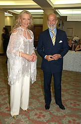 TRH PRINCE & PRINCESS MICHAEL OF KENT at a private view of the forthcoming sale 'Property from the collection of HRH The Princess Margaret, Countess of Snowdon' and a private view of art by Marina Karella Princess Michael of Greece, held at Christie's, 8 King Street, London SW1 on 12th June 2006.<br /><br />NON EXCLUSIVE - WORLD RIGHTS