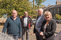 Environment Secretary, Roseanna Cunningham MSP, was in Portobello today to meet the Action Porty community right-to-buy group to mark the Scottish Government giving consent to proceed with the first community right to buy in an urban area. Pictured: Justin Kenrick, Roseanna Cunningham MSP<br /> <br /> <br /> © Jon Davey/ EEm