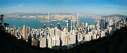 View of skyline of Hong Kong from The Peak