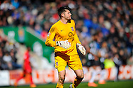 York City Goalkeeper Scott Flinders during the Sky Bet League 2 match between Plymouth Argyle and York City at Home Park, Plymouth, England on 28 March 2016. Photo by Graham Hunt.