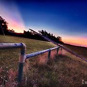 Sunrise at Preston, Kansas, at the official beginning of summer