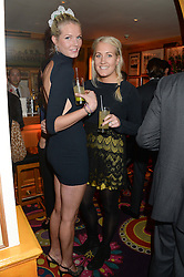 Left to right, sisters GEORGIANA HUDDART and AUGUSTA HUDDART at Tatler Magazine's Little Black Book Party held at Annabel's, Berkeley Square, London on 5th November 2013.