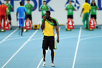 ATHLETICS - IAAF WORLD CHAMPIONSHIPS 2011 - DAEGU (KOR) - DAY 1 - 27/08/2011 - PHOTO : STEPHANE KEMPINAIRE / KMSP / DPPI - <br /> 100 M - MEN - USAIN BOLT (JAM)