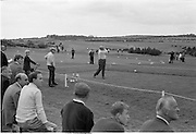 Irish Dunlop Golf Tournament at Tramore, Co. Waterford. H. Bradshaw drives off from the 1st, in a round with N.C. Lynch..19.08.1967