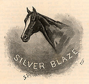 The Adventure of Silver Blaze'. Sherlock Holmes was called in to find the murderer of the racehorse trainer, John Straker. Holmes reveals Silver Blaze had kicked Straker to death when the man was trying to lame him.  From 'The Adventures of Sherlock Holmes' by Conan Doyle from 'The Strand Magazine' (London, 1892). Illustration by Sidney E Paget, the first artist to draw Sherlock Holmes.  Engraving.