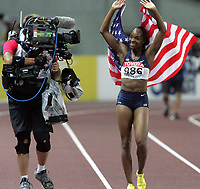 Friidrett<br /> VM 2007<br /> 29.08.2007<br /> Foto: Gepa/Digitalsport<br /> NORWAY ONLY<br /> <br /> ATHLETICS - 11TH IAAF WORLD CHAMPIONSHIPS - 25/8/2007 > 2/9/2007 - OSAKA (JAP)<br /> <br /> Michelle Perry (USA)