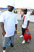 l to r: Greg Nice and O'neal Mcknight at The 2008 Hot 97 Summer Jam held at Giants Stadium in Rutherford, NJ on June 1, 2008...Summer Jam is the annual hip-hop fest held at Giants Stadium and sponsored by New York based radio station Hot 97FM.