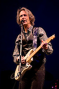 """Lenny Kaye at the 2008 New York Guitar Festival on Saturday 1/12/2008 at the World Financial Center Winter Garden in lower Manhattan. The opening night concert of the festival was titled the """"Royal Albert Hall"""" Project a tribute to Bob Dylan's early 'electric' concerts in England in 1966. Mr. Kaye performed 'One Too Many Mornings'."""