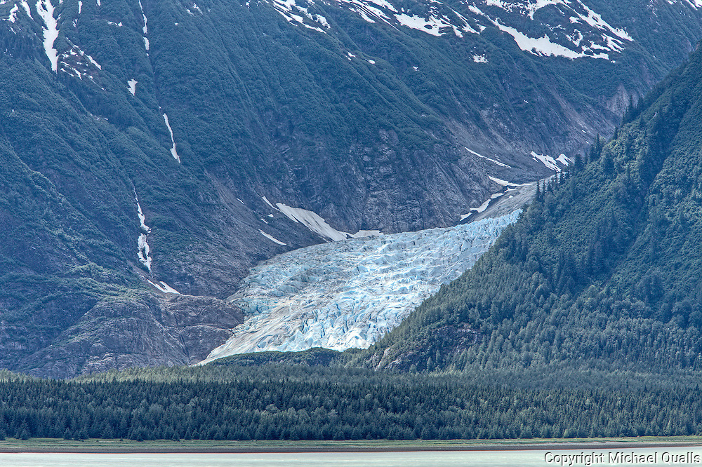 Davidson Glacier as seen across the Lynne Canal from the Chilkat State Park.  Haines, AK.  USA