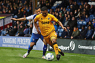 Jerome Thomas of Port Vale gets away from Zeli Ismail of Bury. EFL Skybet football league one match, Bury v Port Vale at Gigg Lane in Bury ,Lancs on Saturday 3rd September 2016.<br /> pic by Chris Stading, Andrew Orchard sports photography.