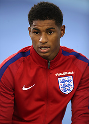 England's Marcus Rashford during a press conference for the media day at St George's Park, Burton upon Trent.