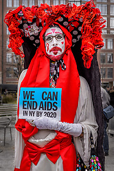 December 1, 2016 - New York, New York, United States - Community leaders, activists, and elected officials gathered for a World AIDS Day program and formal dedication ceremony of New York City AIDS Memorial Park at St. Vincent's Triangle. The event was hosted by the New York City AIDS Memorial Board of Directors and representatives from End AIDS NY 2020, the New York City Department of Health and Mental Hygiene, and the New York State Department of Health. (Credit Image: © Erik Mcgregor/Pacific Press via ZUMA Wire)