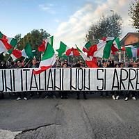 Manifestazione contro l'immigrazione