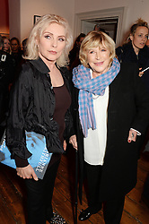 Left to right, DEBBIE HARRY and MARIANNE FAITHFUL  at a private view of Chris Stein/Negative: Me, Blondie And The Advent Of Punk, held at Somerset House, The Strand, London on 5th November 2014.