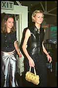 KATIE LODEN;  JACQUETTA WHEELER; , Tatler Bafta party hosted by Jane Procter and Charles Finch. Lola's. Upper St. London. April 1999.